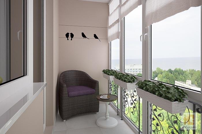 Дизайн лоджии - дизайн квартир, заказать или купить в могиле.