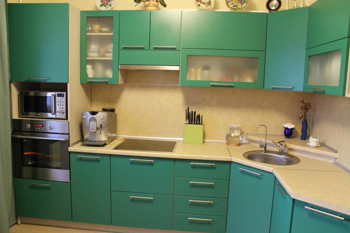 Кухни мятного цвета фото