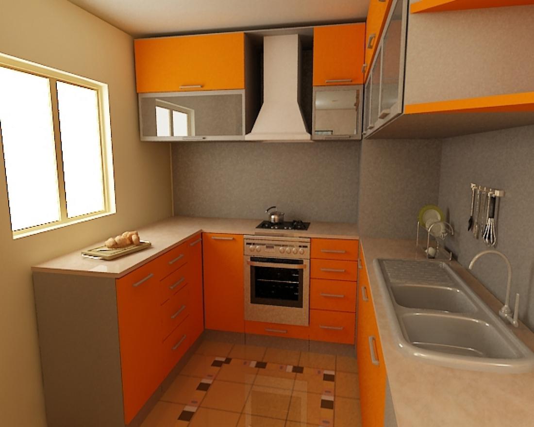 Дизайн в маленькой кухни в частном доме