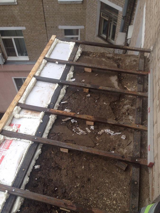 Балконная рама с выносом и наращиванием крыши - балконные ра.